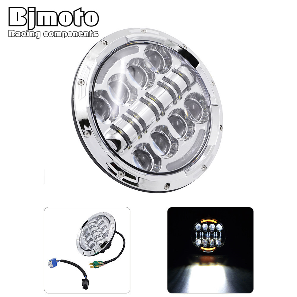 Bjmoto 7 INCH High Low Beam Led Motorcycle Headlight 7