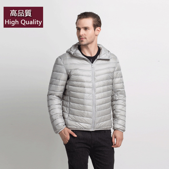 2016 Winter Jacket men 90 Duck Down Jacket Men Ultralight Down Jacket With a Hood Outdoors Winter Parka With Carry Bag doudoune