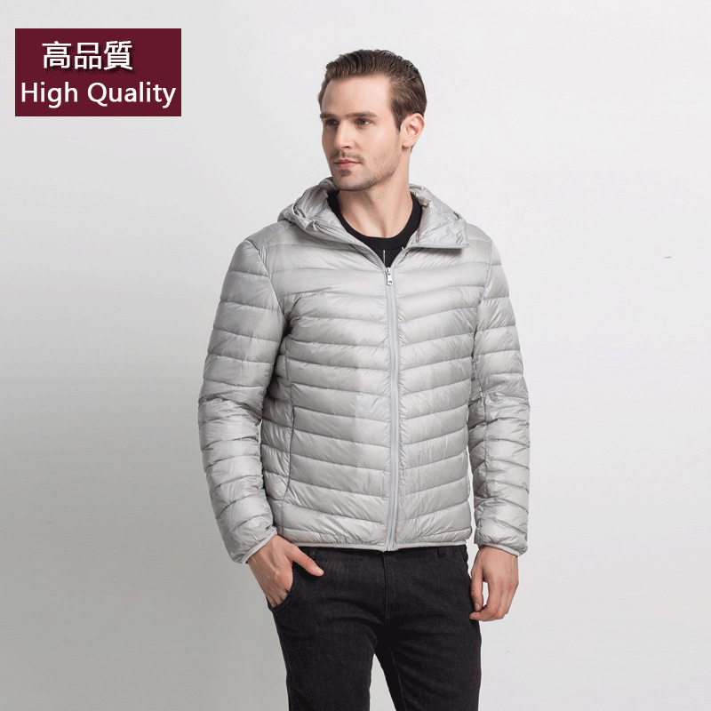 2019 Winter Jacket Men 90 Duck Down Jacket Men Ultralight Down Jacket With A Hood Outdoors Winter Parka With Carry Bag Doudoune Matching In Colour