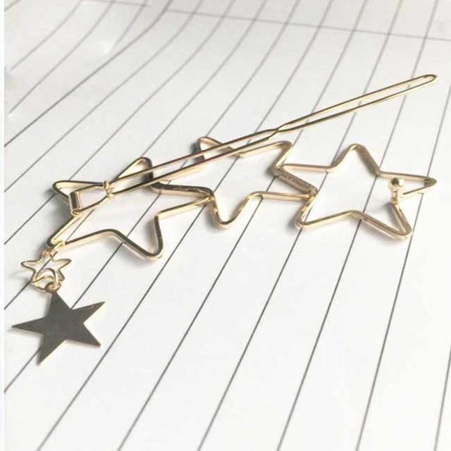 KISSWIFE Women Ladies Popular Hollow Star Tassel Hairpin Hair Pin Hair Clips New High Quality Hair Accessories