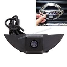CCD A colori Del Veicolo logo vista Frontale della fotocamera per Nissan X-Trail Tiida Qashqai Livina fairlady Pulsar Cube Armada Frontier murano