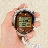 Sıcak Yeni Dijital LCD Zamanlayıcı Chronograph Spor Kronometre Sayaç Koşu Askı