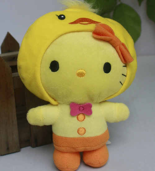 hello kitty Dress in  Chicken cute siut Decor toy stuffed plush doll toy  15cm 6""