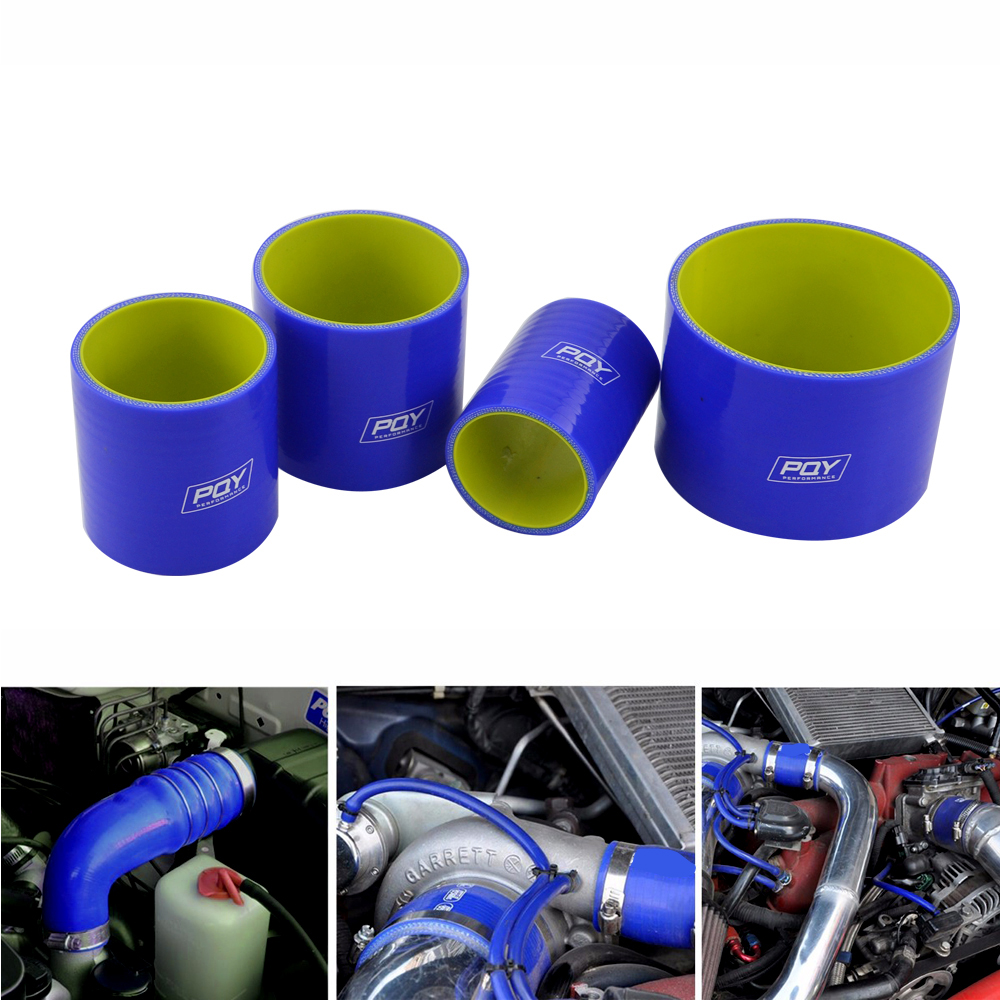 "Image 5 - BLUE & Yellow 2'' 51mm / 2.5"" 64mm / 3"" 76mm / 4"" 102mm Straight Silicone Intercooler Turbo Intake Pipe Coupler Hose-in Hoses & Clamps from Automobiles & Motorcycles"
