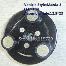 Компрессор кондиционера, концентратор сцепления для Mazda 3 A/C, магнитный Компрессор сцепления, концентратор 12,5*23