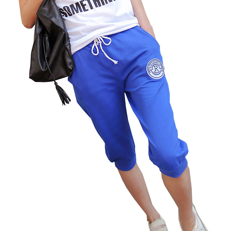 2019 été pantalons de survêtement femmes décontracté sarouel pantalon ample pour les femmes slim Deporte pantalon Long sept court Capris pantalon