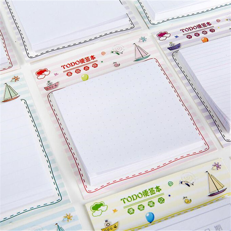 12 Styles Memo Fresh Simple Sticky Notes Self-Adhesive Memo Pad Daily Notepads School Supply Bookmark Post it Label Stationery