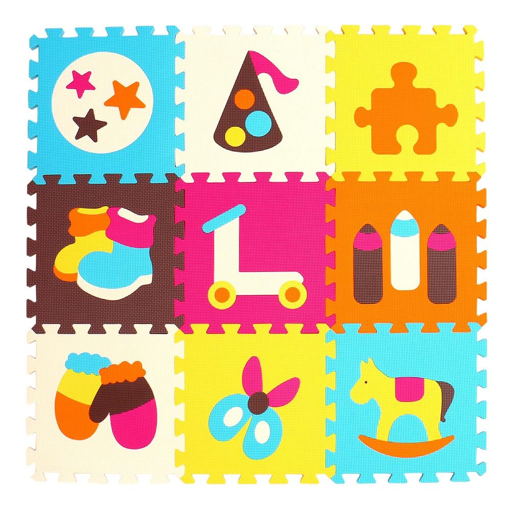 HTB1D9XqgmMmBKNjSZTEq6ysKpXaO mei qi cool 9pcs/set baby play EVA foam puzzle mat /Cartoon EVA foam pad / Interlocking Mats for kids playmat