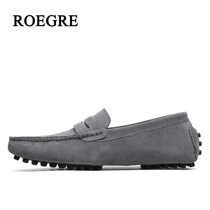 2018ROEGRE Brand Fashion Summer Style Soft Moccasins Men Loafers High Quality Genuine Leather Shoes Men Flats Gommino Driving Sh luxury brand summer men shoes genuine leather big size men driving shoes good quality soft men loafers comfortable breathable
