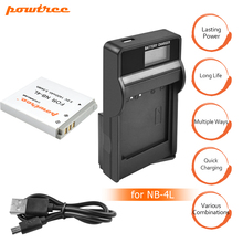 цена на 1Pcs 1400mAh NB-4L NB 4L NB4L Batteries+LCD USB Charger for Canon IXUS 60 65 80 75 100 I20 110 115 120 130 IS 117 220 225 L20