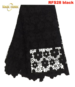 African guipure lace fabric Nigerian cord water soluble lace fabric for summer dress and wedding    RFS28