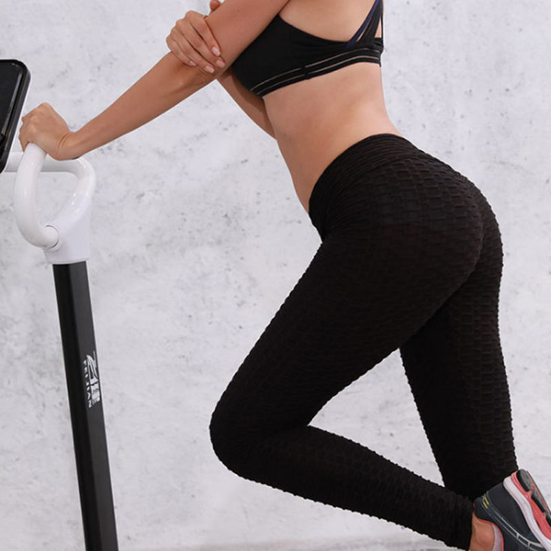 TOIVOTUKSIA Solid Sexy Push Up Leggings Women High Waist Pants Female Workout Breathable Skinny