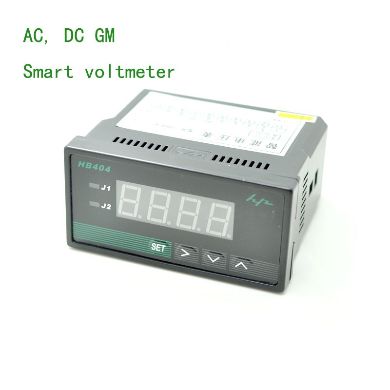 High-precision digital voltmeter can switch the range of digital voltage display AC and DC universal Compatible Input: Dc/ac ac dc ac dc high voltage lp