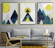 Nordic Abstract Lines Geometric Mountains Print Picture Wall Art Canvas Paintings Decoration for Children Room Unframed