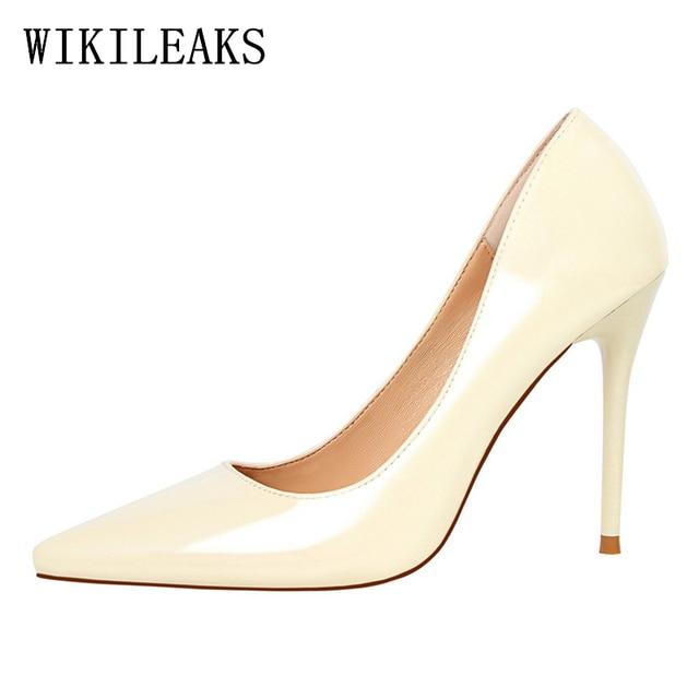 Wedding Shoes Woman Black Pumps Extreme High Heels Zapatos Mujer Tacon Stiletto Italian Euro Women