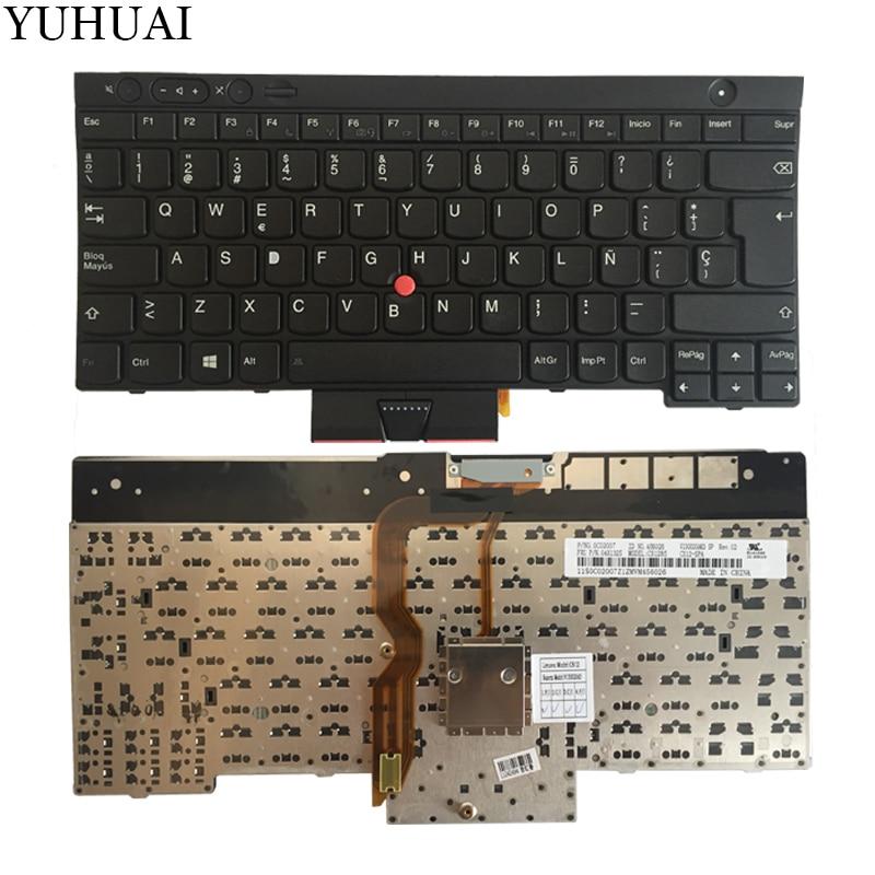 NEW SP laptop keyboard FOR LENOVO THINKPAD T530 T530i T430 T430s X230 W530 L430 L530 Spanish keyboard black 04X1325 russian new for thinkpad t430 t430i t430s t530 t530i w530 backlit keyboard ru