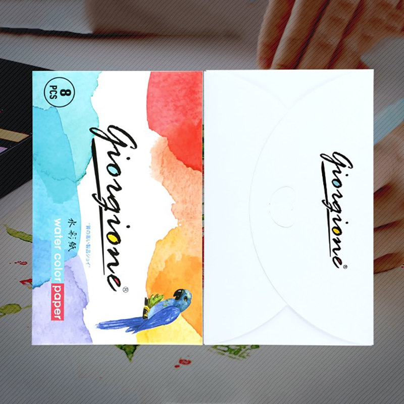 8 Sheets 32 Open Pure Wood Pulp Paper Watercolor This Portable Painting Sketch Draft Sketch Draft Student Watercolor Paper Set