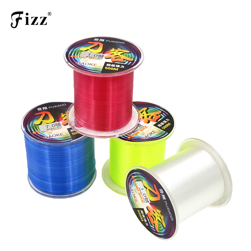 High Strength 500M Monofilament Nylon Fishing Line Japan Snabb Sinking Fly Fishing Line för Sea River Lake Fishing Accessories