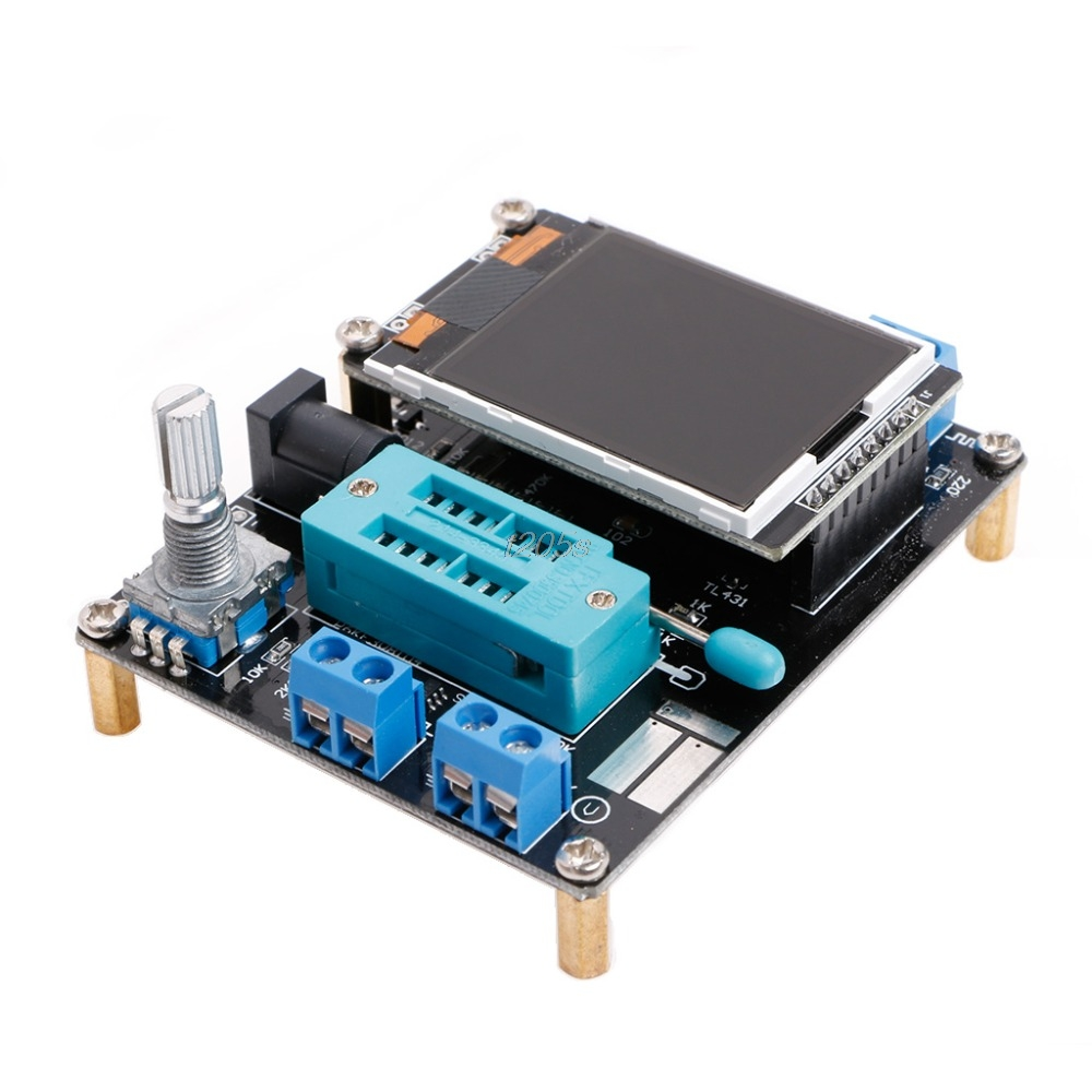 M328 DIY Transistor Tester LCR Diode Capacitance ESR Meter PWM Signal Generator Electrical Instruments T12 Drop ship