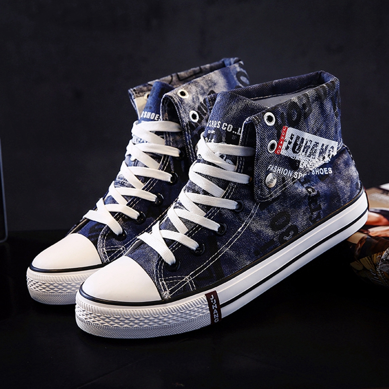 Image 2 - Мужские кроссовки; парусиновая обувь; Повседневная Вулканизированная обувь; мужские высокие кроссовки; летние дышащие кроссовки на шнуровке; zapatillas hombre-in Мужская вулканизированная обувь from Обувь