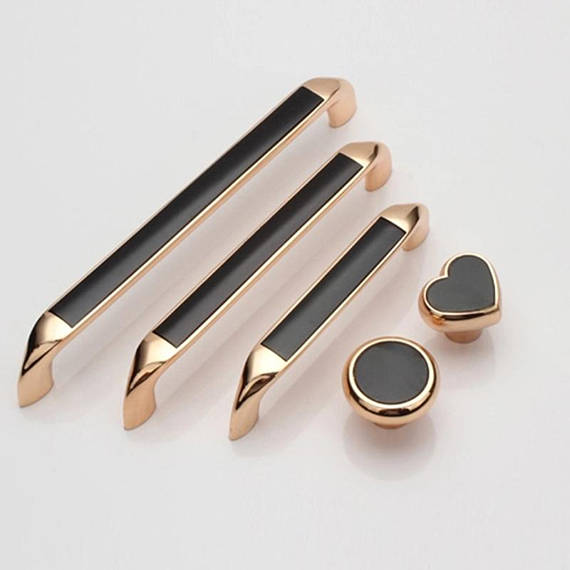 3.75'' 5''6.3'' Rose Gold Black Dresser Knobs Drawer Pulls Handles Knobs Kitchen Cabinet Door Handle Knob Modern Pull Hardware 5 silver white dresser kitchen cabinet door handles knobs silver black drawer cupboard knobs pulls 160mm modern simple handles