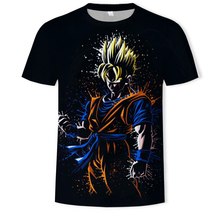 2019Summer Dragon Ball Z Ultra Instinct Goku Super Saiyan Tshirt 3D  O-Neck