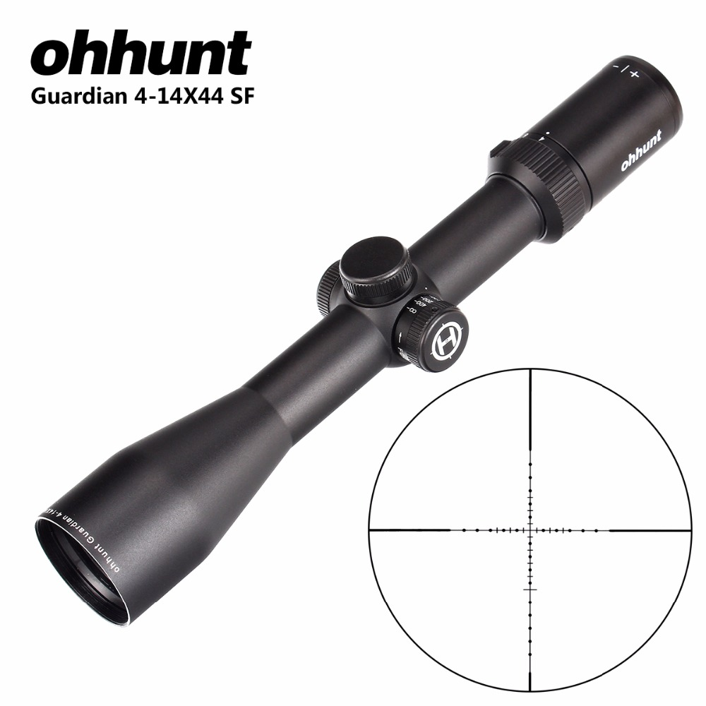 ohhunt Guardian 4 14X44 SF Hunting Rifle Scope 30mm Tube Side Parallax Tactical Riflescopes with KillFlash
