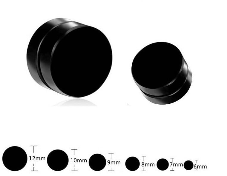 1 Pair Mens Women Non Piercing Ear Stud Clip On Round Magnetic Earrings