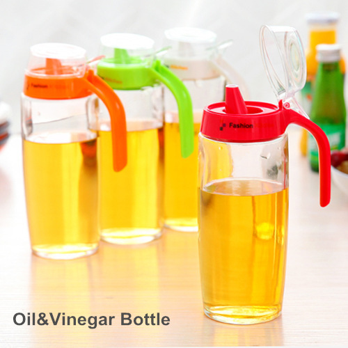 500ml Glass oil vinegar bottle Oiler Sauce Seasoning pot container