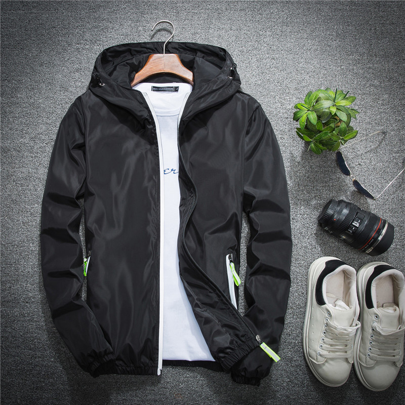 2019 Men Bomber Jacket Thin Slim Long Sleeve Camouflage Military Jackets Hooded Windbreaker Zipper Outwear Army Clothing Free