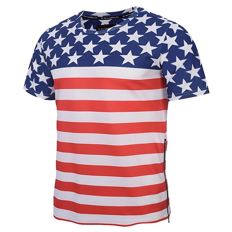 Luxury Brand Fashion Zipper T shirt Men/Women 3d Tshirts Print USA Flag  Striped Stars Summer Tees Shirts Tops T shirt-in T-Shirts from Men's  Clothing ...