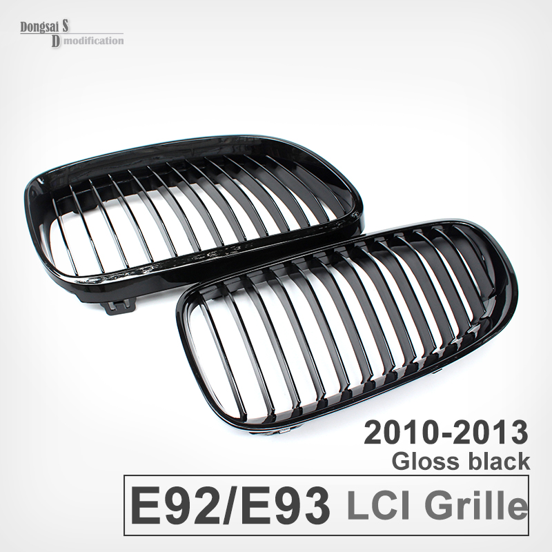 E92 LCI ABS Grill Front Bumper Grille for BMW 3 Series 320i 335i 325i330i 2010 - 2013 e60 front grille for bmw 5 series e39 e60 abs m performance style front bumper grille