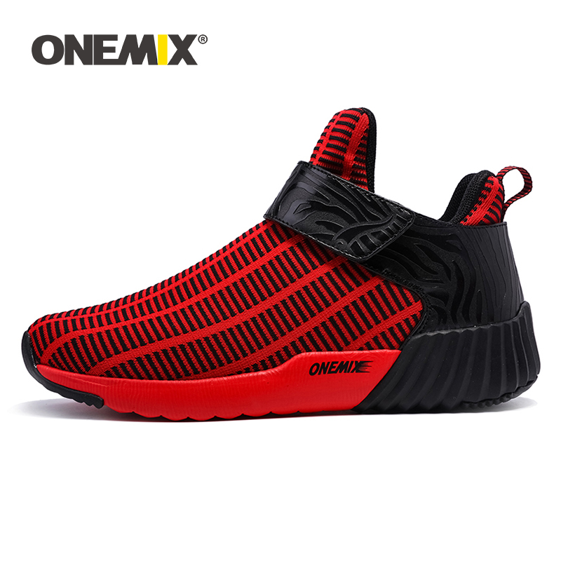 ONEMIX Warm High-top Sneaker Winter Unisex Sport Casual Running Shoes Outdoor Men And Women Athletic Walking Shoes Size 36-46