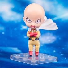 Haocaitoy Figure Toys GSC nendoroid Q Version 575# Saitama Doll PVC Model Anine Figures Cute Collectible 10cm недорого