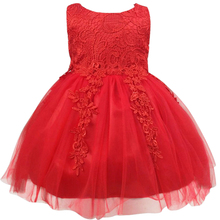 Flower Girl Dress For Wedding Pageant Prom Party Red And White Dress Baby Kids Clothes Toddler Children Formal Dresses Girl