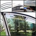 Piezas del coche Hatch ventilación viento Deflector 304 PC de acero inoxidable moldeo sol guardias de la puerta Visor para Honda Accord 2014 2015