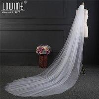 Satışa ucuz Beyaz Uzun Düğün Veil Gelin Veils Tarak Ile Iki Katman Düğün Veils Ucuz Düğün Aksesuarları Depoda