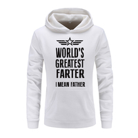 Brand 2018 Funny World's Greatest Farter Men's Letter Printed Hooded Solid Hoodies Autumn Winter Fashion Hip Hop Men Streetwear