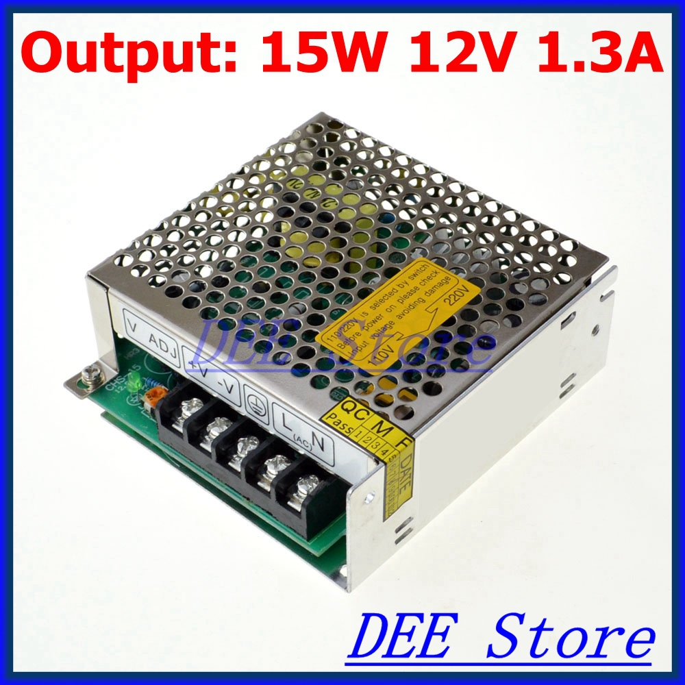 leds-mall LED-15 Led driver 15W 12V 1.3A Single Output  Adjustable Switching power supply  for LED Strip light  AC-DC Converter