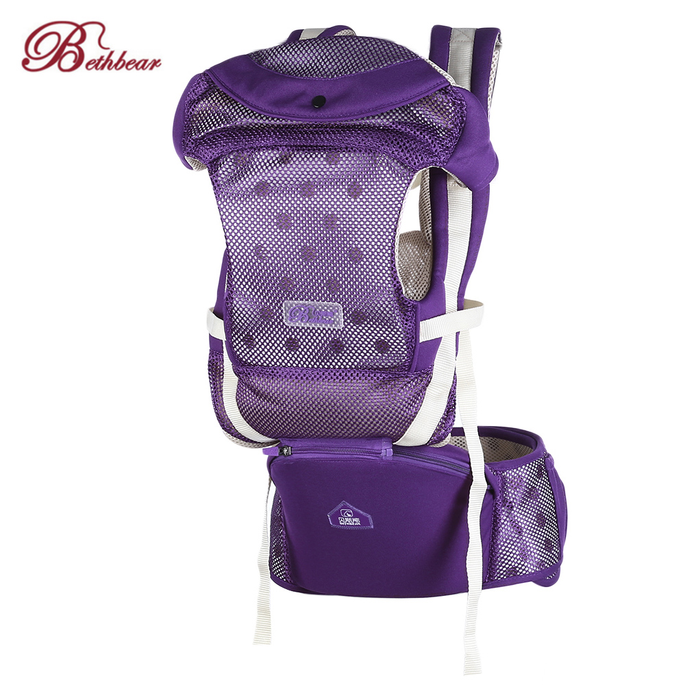 Bethbear 0-3 Years Baby Carrier Ergonomic Carrier Prevent O-Type Legs Hip Seat Newborn Waist Stool Baby Carrier Sling Backpack