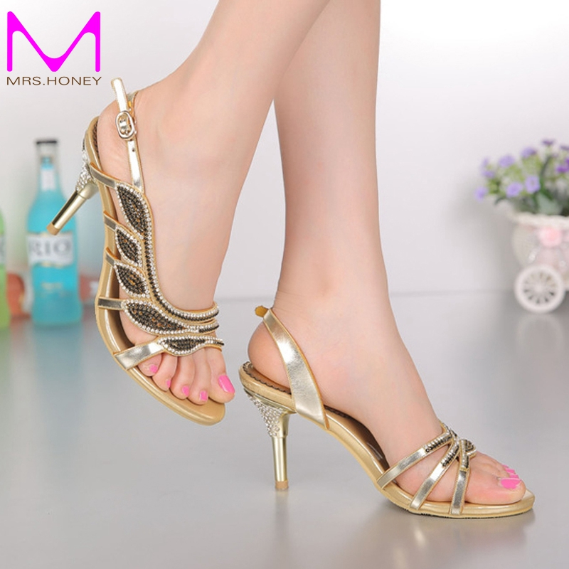 ФОТО Green Rhinestone Women Sandals Stiletto Heel Wedding Bridal Formal High Heels Bridesmaid Shoes Plus Size Summer Dress Shoes