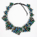 2016 New Design Rhinestone Big Pendant Exaggerated Necklace High Quality choker Vintage Statement Necklaces Pendants For Women