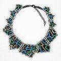 2016 nuevo diseño de diamantes de imitación colgante grande exagerado collar alta calidad gargantilla declaración Vintage collares colgantes para mujeres