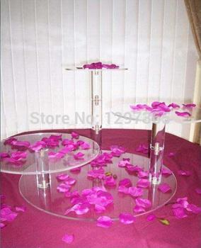 Free Shipping  3 Tier Beautiful Acrylic wedding cake stand cupcake stand