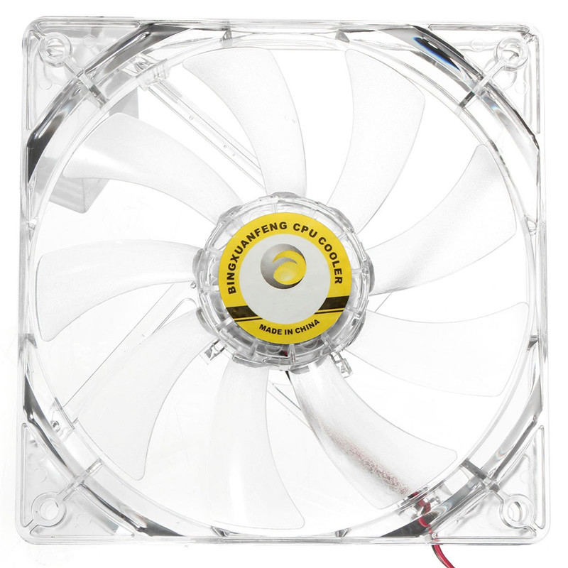 120mm 4 Pin Cooler Fan For Computer CPU Case Cooling Heatsink Silent Red LED Light PC Computer Power Case CPU Fan 4pin pwm cooler fan 80mm 8cm fan case fan for power supply for computer case computer fan cooler foxconn 8025pwm