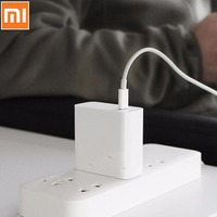 Original Xiaomi Mi USB C Charger 45W Max Smart Output Type C Port USB PD 2.0 Quick Charge QC 3.0 With USB C to USB C Date Cable