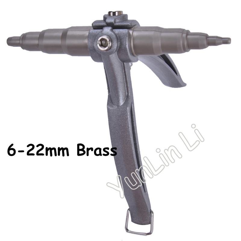 Universal Hand Refrigeration Tools Copper Pipe Swaging Tool Tube Expander Copper Pipe Tool 6-22mm Brass WK-622 1pc wk 622 tube expander air conditioner copper pipe swaging tool refrigerant tube expander tube expansion
