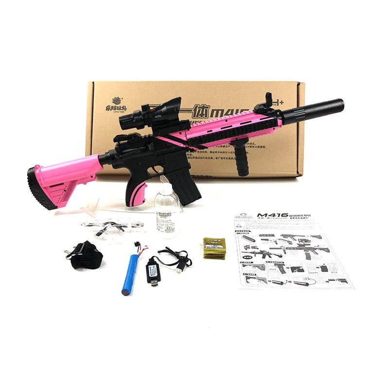 Zhenduo jouet M416 main de jouet lectric pistolet à eau Gel balle pour enfants passe-temps en plein air - 4