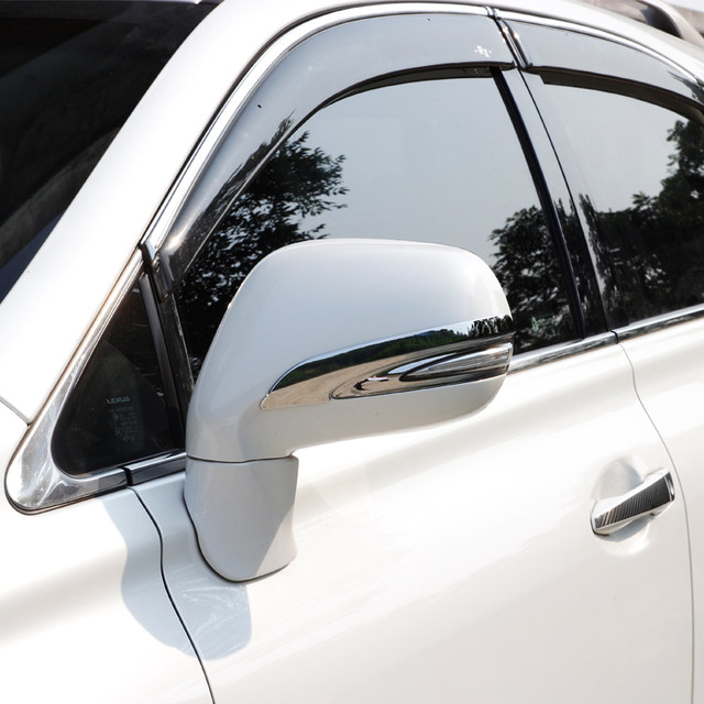 2009 2015 Chrome Rearview Side Mirror Cover Trims For Lexus RX 270 RX350  Accessories