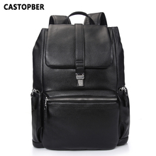 hot deal buy new business cow genuine leather men backpacks european and american style for laptops high quality bag for man famous brand